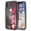 Guess Glitter Collection iPhone X / iPhone XS Hülle - Himbeere