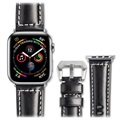 Qialino Apple Watch Series 5/4/3/2/1 Lederarmband - 42mm, 44mm - Schwarz