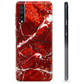 Samsung Galaxy A50 TPU Hülle - Roter Marmor