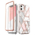 Supcase Cosmo iPhone 11 Hybrid Hülle - Rosa Marmor