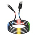 Usams US-SJ288 Dancing LED USB 2.0 / MicroUSB Kabel - 1m - Schwarz